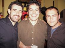 Junto a Ismael Serrano